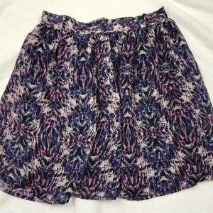 Mossimo Ikat Zebra Printed Purple Skirt S